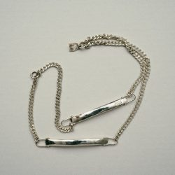 EXCLUSIVE ID BRACELET SILVER925 (DOUBLE) (SILVER)