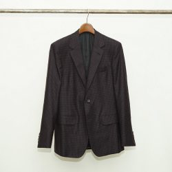 GINGHAM CHECK SINGLE BREASTED JACKET
