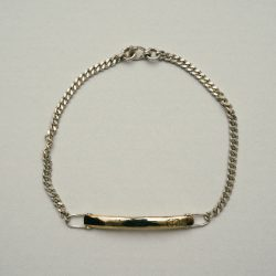 EXCLUSIVE ID BRACELET SILVER925 (SINGLE) (SILVER/GOLD)