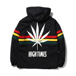 HIGH TIMES × WACKO MARIA RASTA STRIPED PULLOVER HOODED JACKET
