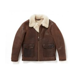 REVERSIVLE DISTREESED SHEARLING JACKET