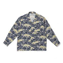 ORIGINAL PRINTED OPEN COLLAR SHIRTS (PANTHER long sleeve)