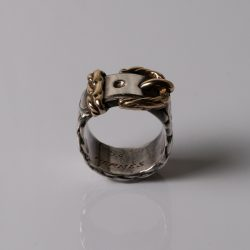 Hermès VINTAGE SILVER/GOLD RING