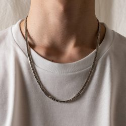 VINTAGE MEXICAN FLAT LINK CHAIN NECKLESS