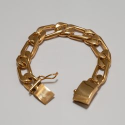 TAXCO GOLD CHAIN BRACELET / 12mm