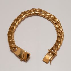 TAXCO GOLD CHAIN BRACELET / 10mm