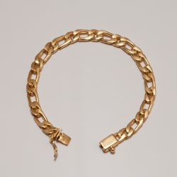 TAXCO GOLD CHAIN BRACELET / 7mm