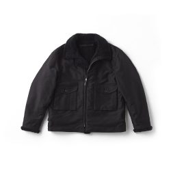 ALPACA SHEARING AVIATOR JACKET