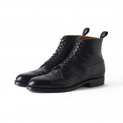 """The Trader"" VACHETTA LEATHER CAP TOE BOOTS"