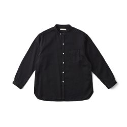 STUD BUTTON BAND COLLAR SHIRTS