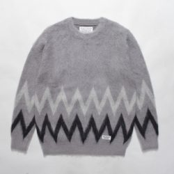 ZIGZAG MOHAIR CREW NECK SWEATER
