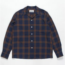 OMBRAY CHECK OPEN COLLAR SHIRTS