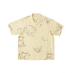 ORIGINAL PRINTED OPEN COLLAR SHIRTS(-DRAWING-short sleeve)
