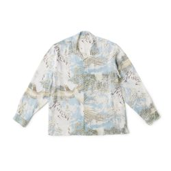 ORIGINAL PRINTED OPEN COLLAR SHIRTS(-ORIENTAL-long sleeve)