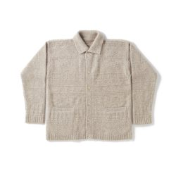 RACOON GUERNSEY BUTTONED SWEATER
