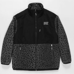 LEOPARD BOA FLEECE JACKET
