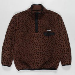 LEOPARD PULLOVER BOA FLEECE JACKET