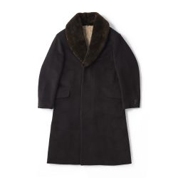 MOUTON-COLLAR GENTS COAT