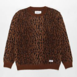 LEOPARD MOHAIR CREW NECK SWEATER