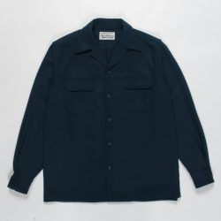 WOOL OPEN COLLAR SHIRT