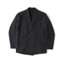 DOUBLE-BREASTED SWING JACKET