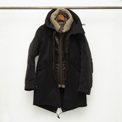 The PARKA (W/AVIATOR SHEARLING HOODED LINER)