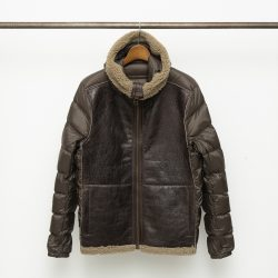 AVIATOR SHEARLING HOODED LINER WITH POCKET SHEARLING
