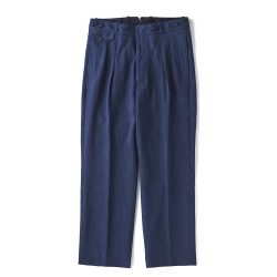 DOUBLE-PLEATED DRAPE TROUSER