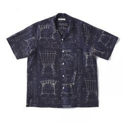 ORIGINAL PRINTED OPEN COLLAR SHIRTS (BLUE PRINT) Short-sleeve