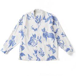ORIGINAL PRINTED OPEN COLLAR SHIRTS (DRAWING) Long-sleeve